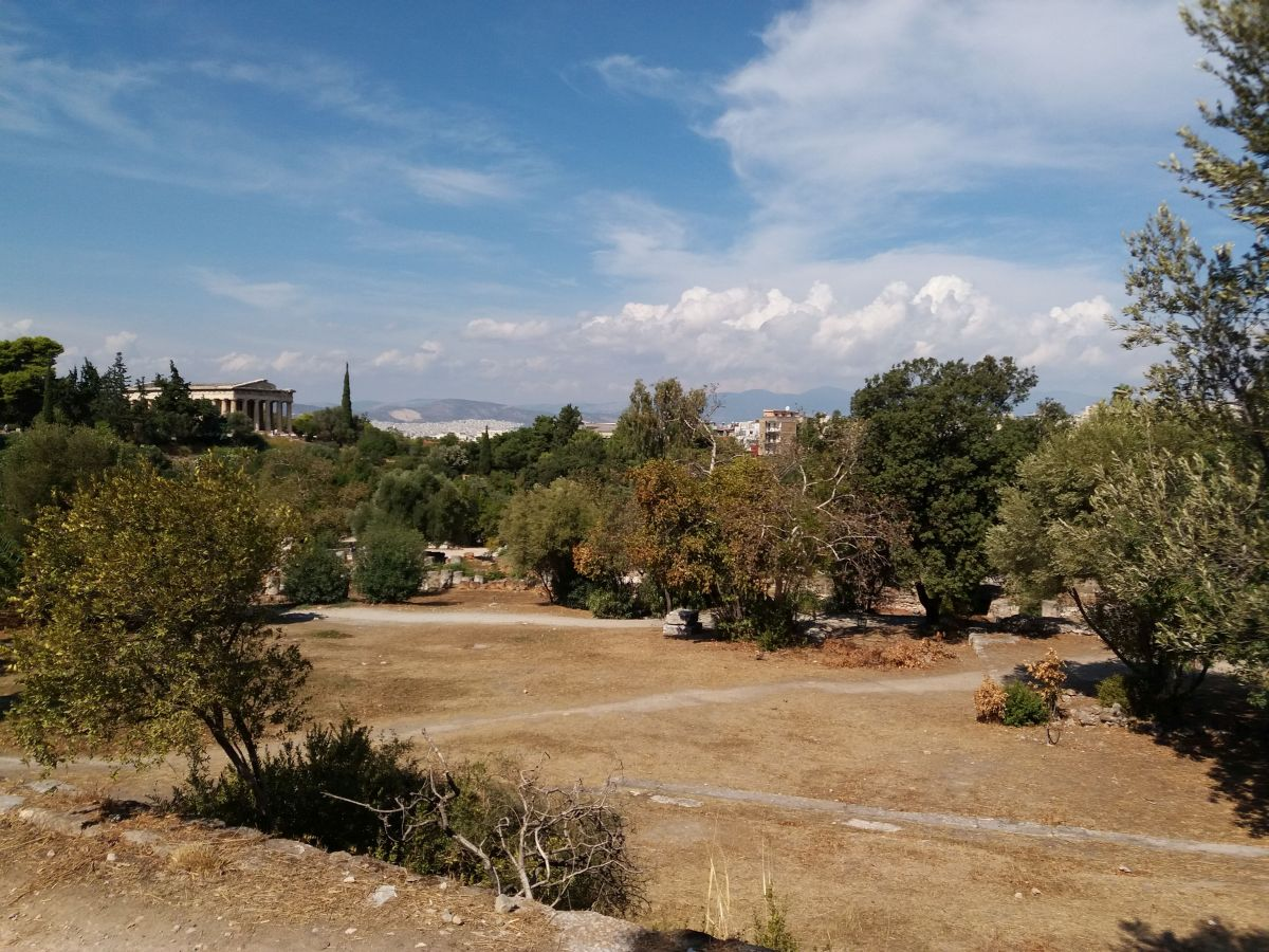 agora ateńska widok