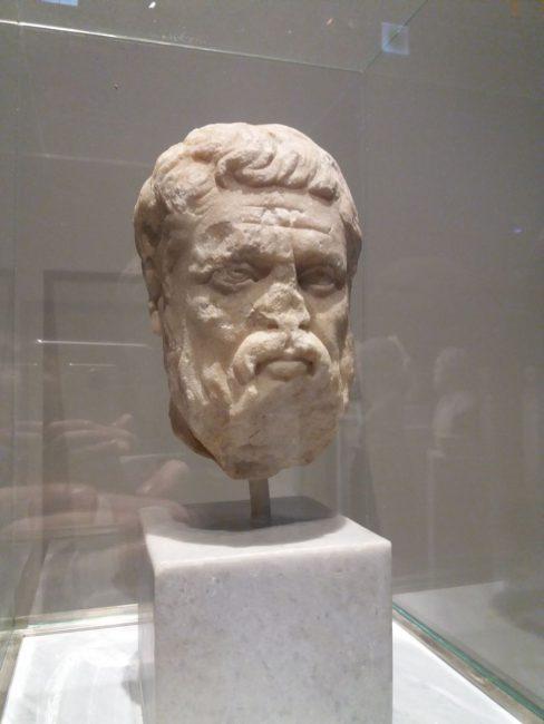 platon rzeźba marmurowa