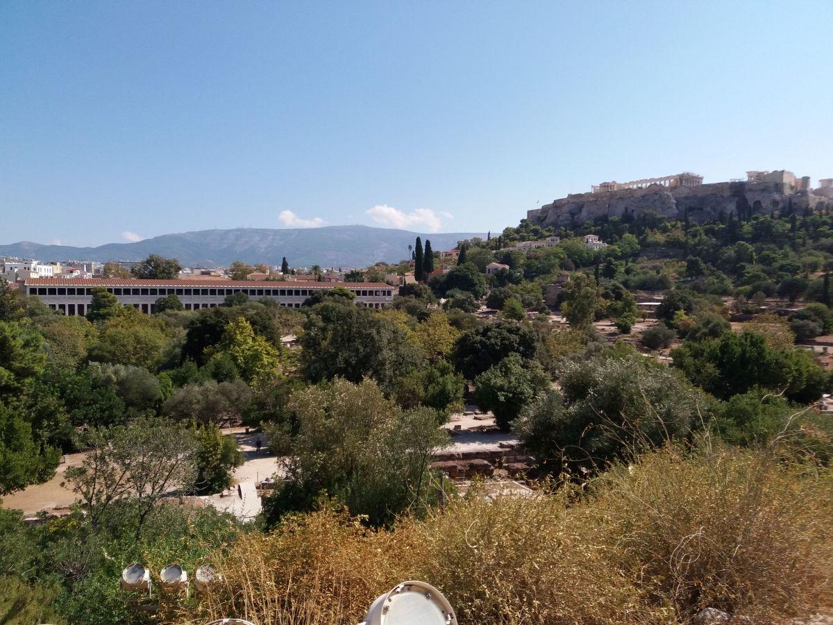 widok na agorę z góry