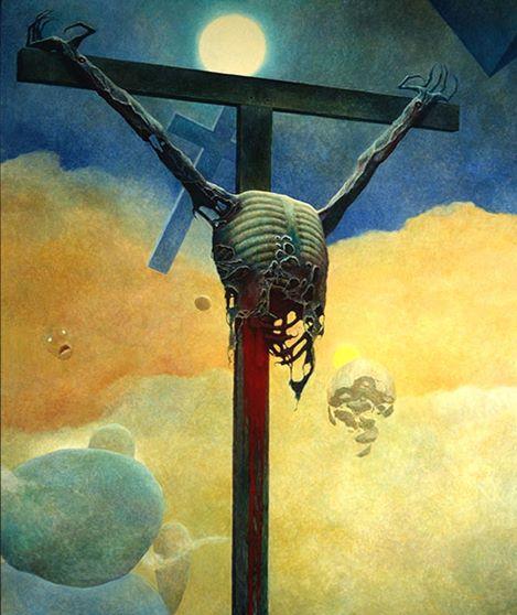 zdzisław beksiński krzyż